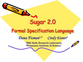 Sugar 2.0 Formal Specification Language
