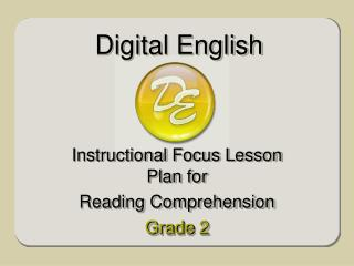 Instructional Focus Lesson Plan for Reading Comprehension  Grade 2