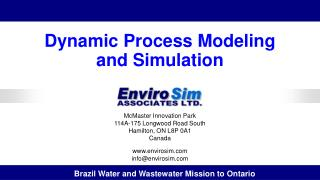Dynamic Process Modeling  and  Simulation