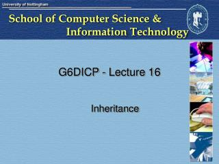 G6DICP - Lecture 16