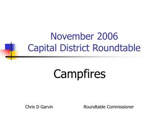 November 2006  Capital District Roundtable