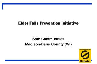 Elder Falls Prevention Initiative