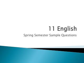 11 English