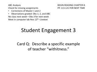 Student Engagement 3