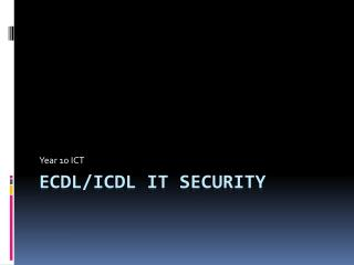 ECDL/ICDL IT Security