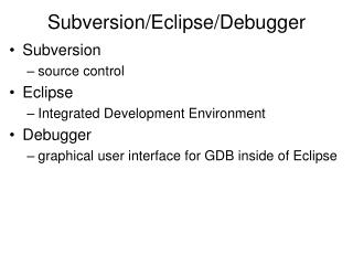 Subversion/Eclipse/Debugger