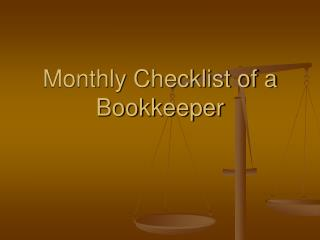 Monthly Checklist of a Bookkeeper