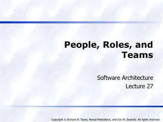 People, Roles, and Teams