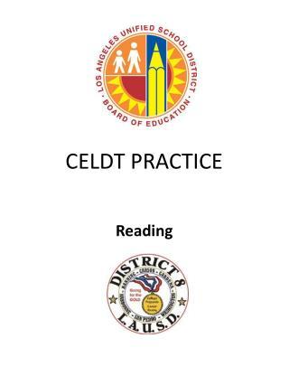 CELDT PRACTICE