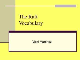 The Raft Vocabulary