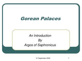 Gorean Palaces