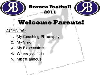 Bronco Football 2011