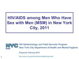 hiv aids msm 2011