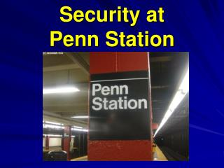 Security at Penn Station