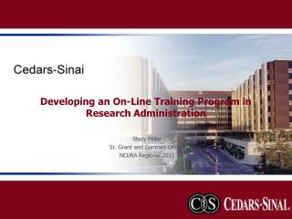 Developing an On-Line Training Program in Research Administration