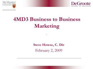 4MD3 Business to Business Marketing