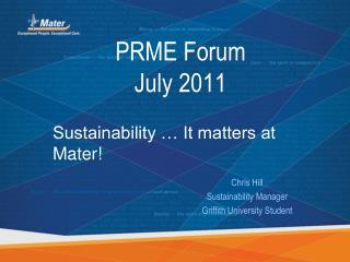 PRME Forum  July 2011