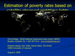 Estimation of poverty rates based on satellite observed nighttime lights