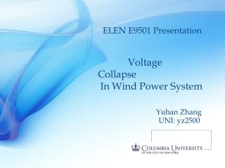 Voltage Collapse   In Wind Power System