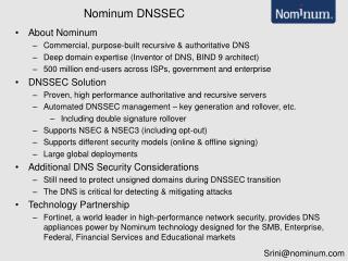 Nominum DNSSEC