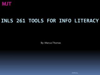 INLS 261 Tools for Info Literacy