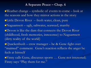 A Separate Peace – Chap. 6