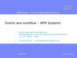 Events and workflow � BPM Systems