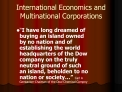International Economics and Multinational Corporations