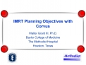 IMRT Planning Objectives with Corvus