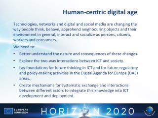 Human-centric digital age