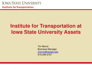 Institute for Transportation at Iowa State University Assets