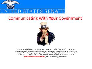 Communicating With  Your  Government