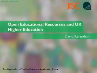 Open Educational Resources and UK Higher Education