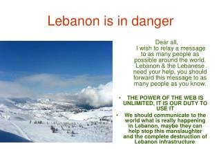 Lebanon is in danger