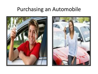 Purchasing an Automobile