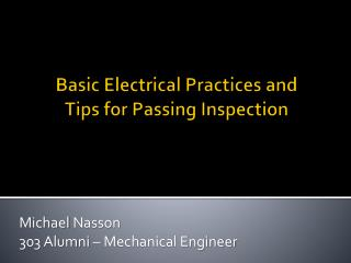 Basic Electrical Practices and Tips for Passing Inspection