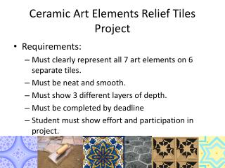 Ceramic Art Elements Relief Tiles Project