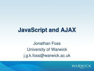 JavaScript and AJAX
