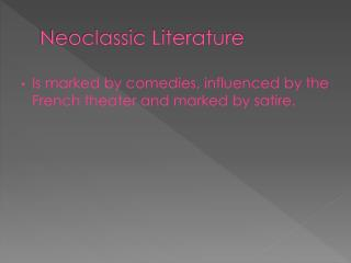 Neoclassic Literature