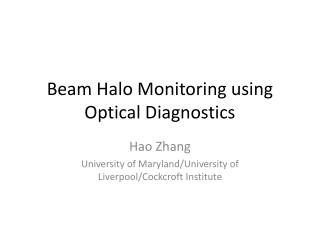 Beam Halo Monitoring using Optical Diagnostics
