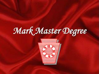 Mark Master Degree