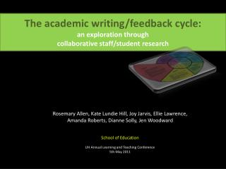 The academic writing/feedback cycle:  an exploration through  collaborative staff/student research