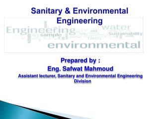 Sanitary & Environmental  Engineering