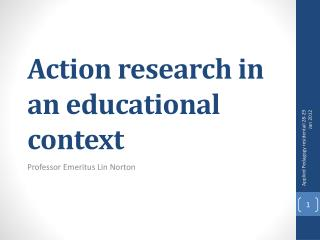 Action research in an educational context
