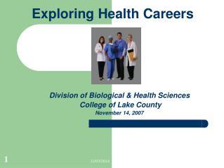 Exploring Health Careers