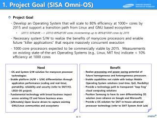 1.  Project  Goal (SISA Omni-OS)