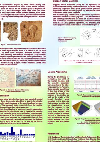 DETERMINATION OF THE PROVENANCE OF VINICA TERRA COTTA ICONS USING SUPPORT VECTOR MACHINES