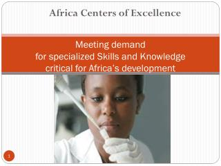 Meeting demand  for specialized Skills and Knowledge  critical for Africa's development