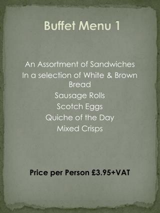 Buffet  Menu 1