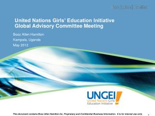 United Nations Girls� Education Initiative Global Advisory Committee  Meeting